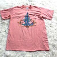 Vtg 80s 90s Single Stitch T Shirt Desert Cactus Aztec Graphic New Mexico XL