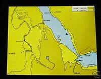 Glass Magic Lantern Slide MAP OF UPPER EGYPT C1910