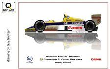 Coffee Mug 1989 Williams FW12C Renault #5 Thierry Boutsen (BEL) by Guy Golsteyn