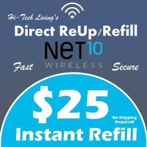$25 NET10 PREPAID FAST REFILL DIRECT to PHONE 🔥 GET IT TODAY! 🔥 TRUSTED SELLER