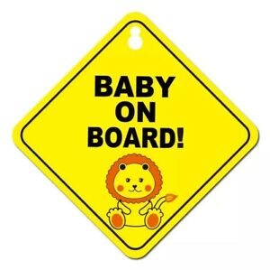 Baby On Board Kids Decal Girl Boy Child Funny Novelty Suction Cup Lion Car