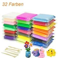 32 DIY Toys Moulding Fimo Polymer Soft Clay Modelling Mixed Color Set Oven Bake