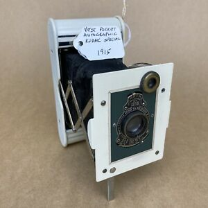 Kodak Vest Pocket Autographic Kodak Special 1915 White & Green Folding Camera