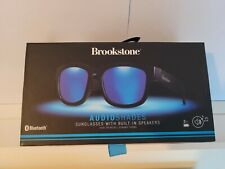NIB Brookstone Audioshades Sunglasses Bluetooth Dual Speakers Black Md/Lg