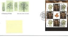 WBC. - GB-FIRST DAY COVER-FDC-Prestige riquadro -2000 - ALBERI-PMK abergele