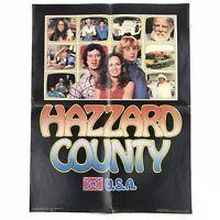 "Vintage Dukes Of Hazzard Poster, ""Hazzard County USA"", 1981 Book Club Poster"