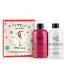 Philosophy BERRY CREAM CRUMBLE Duo Gift Set Berry Tart Gel Vanilla Cream Lotion