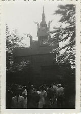 PHOTO ANCIENNE - VINTAGE SNAPSHOT - PAGODE BERGEN NORVÈGE - PAGODA NORWAY