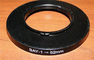 B30 Bay 1 I to 52mm Filter Adapter for Yashicamat Minolta Autocord