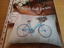 Gráfico de punto de Cruz Flor Cesta Cuadro de Bicicleta Bici floral gráfico de ciclo