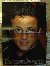 SYLVESTER STALLONE / JOHNNY DEPP - DOUBLE-SIDED POSTER FROM BRAVO MAGAZINE