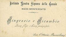 Istituto Nostra Signora delle Grazie Nizza Monferrato - Auguri 1880 c.a