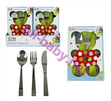 **SPECIAL OFFER* 2 Packs of Childs 3pc Stainless Steel Cutlery Sets only £3.99.