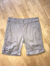 WEIRD FISH SZ 12 STONE COLOURED MULTI POCKET SHORTS 100% COTTON