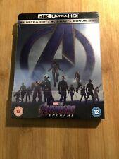 Avengers Endgame Steelbook 4K UHD & Blu ray UK Edition New Sealed Fast Dispatch