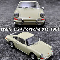Welly 1:24 Scale Porsche 911 1964 Roadster Diecast Model Racing Car Toys W/Case