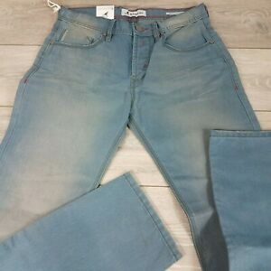 Kangol Mens Fashion Jeans Trousers Bottoms Regular Straight Fit W33 L34 A462-2