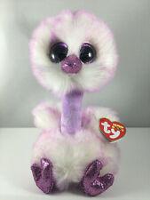 "2019 TY Beanie Boos 6"" KENYA the Lavender Ostrich Plush Stuffed Animal Toy MWMTs"