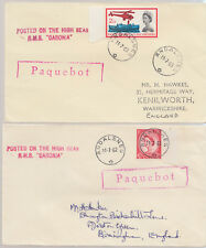 1962-63 Andalsnes Norway pair of Paquebot covers ~ RMS Caronia