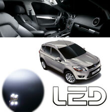 FORD KUGA 1 - 12 Ampoules LED Blanc Plafonnier Habitacle coffre miroirs sols