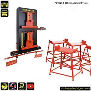 SharkEye PC4WLA 4 Wheel Laser Alignment Gauges & 80cm Alignment Tables. UK Made