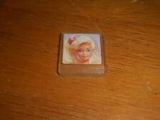 Barbie plastic photo / yellow hair / small collectible / unique/one sided/Mattel