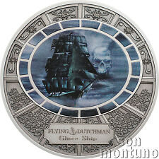 FLYING DUTCHMAN Ghost Ships Series - Silver Proof Coin BOX+COA 2016 Cook Islands