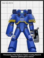 Dornian Heresy Ultramarines MK16 Damocles pattern power armor set of 10