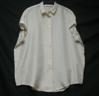 JUCCA DESIGNER 100% SILK SEMI SHEER OVERSIZE BLOUSE TOP QUIRKY SLEEVE M RRP £160