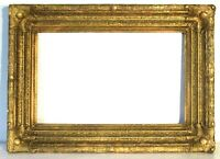 ANTIQUE 19 CENTURY  GREAT QUALITY GILT FRAME FOR PAINTING  22  X 14  INCH