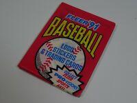 1991 Fleer MLB American Baseball Trading Card Pack of 9 & 1 Sticker