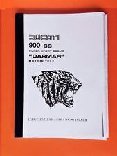 DUCATI DARMAH 900SS OWNERS MANUAL JULY  1979 COPY JULY 1979