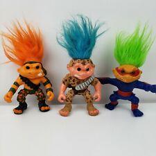 "Vintage 1992 Hasbro Battle Trolls Lot Of 3 Figures 5"""