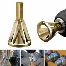 Stainless Steel Deburring External Chamfer Tool Drill Bit Remove Burr Gold