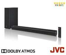 JVC TH-D689B 120W Dolby Atmos TV Sound bar With Wireless Subwoofer HDMI Optical