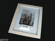 6 Imitation A4 Photo Picture Frame White Wood Grain Finish Certificate Document
