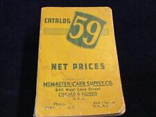 Vtg McMaster-Carr 1953 No 59 Industrial Supply Tool Asbestos 1598pg Catalog Aa