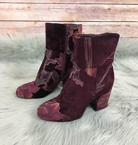 New Steve Madden Elissa Velvet Bootie (Size 7.5)