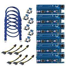 6X USB 3.0 PCI-E 1X-16X Extender Riser Card Adapter Power Cable ETH BTC Mining
