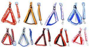 Wholesale 12PCS A Set Dog Adjustable Nylon Harnesses  Easy To Use With Leash L