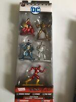 Nano Metalfigs DC COMICS Die Cast Metal Figures-Batman-Wonderwoman-Jada 5 pack A