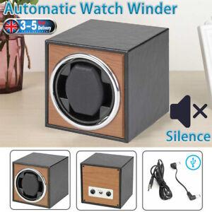 Automatic Watch Winder Super Quiet Watch Wood Display Case Storage Organizer UK