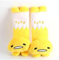 2pcs/set Cute Yellow Gudetama Seat Belt Cover Auto Car Plush Shoulder Sleeve Pad