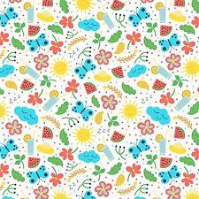 Imprimé Nœud Tissu A4 de toile soleil d'été papillon fleurs SM1 faire paillettes Bows