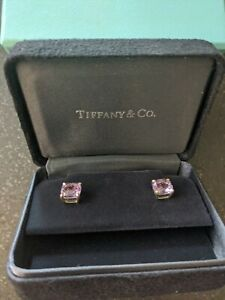 Tiffany Amethyst Earrings beautiful pre-owned ready for a new home!