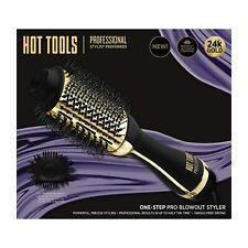 Hot Tools Professional 24k Gold One-Step Salon Blowout Hair Styler Brush New