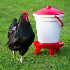 Chicken/Poultry Drinker - LARGE 18L Drinker with Legs - Easy to clean and fill