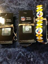 PITTSBURGH STEELERS OFFICIALLY LICENSED SMALL DOG LEASH ARGYLE PATTERN