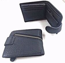 Carbon Finish Men Leather Wallet Credit Card Coins Holder Purse Black New.
