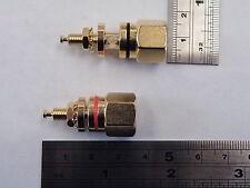 2 pcs Hi Quality Non Insulated 4mm Speaker Terminals Pair 1 ea Red Black EB11